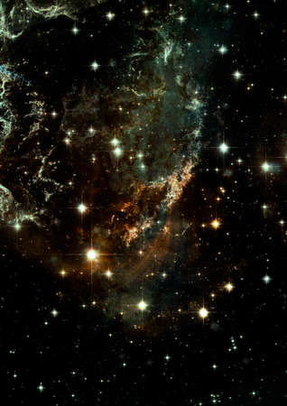 shone: Far being shone nebula and star field against space.