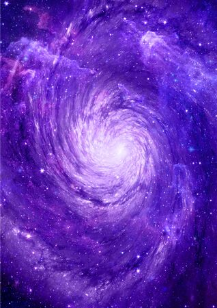 vast: Stars and spiral galaxy in a free space. Elements of this image furnished by NASA.