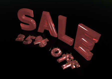 sellout: Glossy gold three-dimensional inscription SALE 25 percent off
