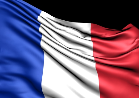 france: Image of a waving flag of France