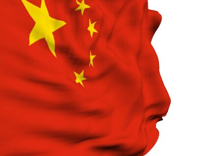 east river: Image of the Waving flag of China Stock Photo