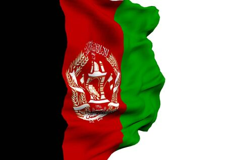 afghanistan: Image of a waving flag of Afghanistan