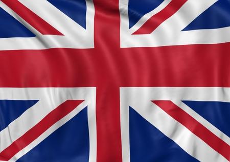waving: Image of a waving flag of UK