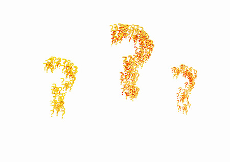ask: The question marks consisting of a set of small question marks