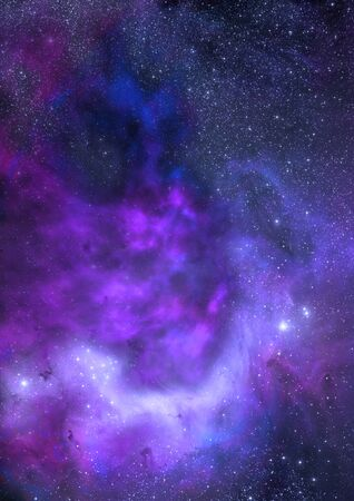 ethereal: Star field in space a nebulae and a gas congestion.