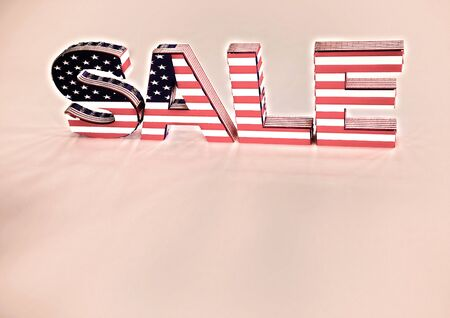 opportunity sign: The dimensional word sale on a background. 3D illustration.