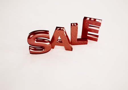 3d dimensional: The dimensional word sale on a background. 3D illustration.