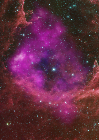 awe: Star field in space a nebulae and a gas congestion.