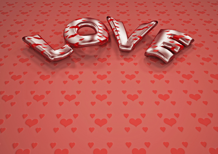 3d dimensional: Dimensional inscription of LOVE on background. 3D illustration.