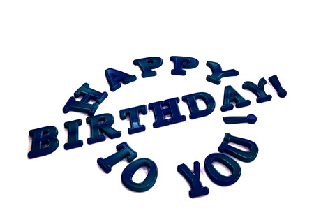 Dimensional inscription Happy birthday to you. 3D illustration.