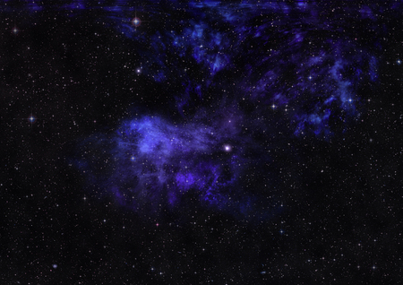 Small part of an infinite star field of space in the Universe. Elements of this image furnished by NASA .