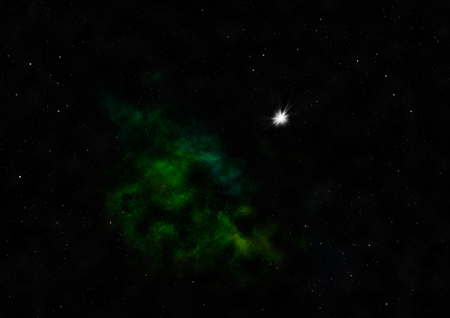 spinning: Star field in space a nebulae and a gas congestion. Elements of this image furnished by NASA . 3D rendering