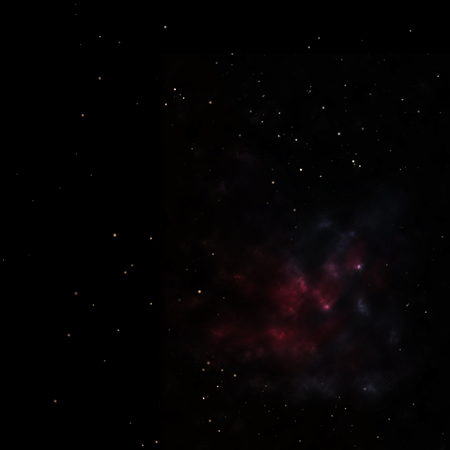 Small part of an infinite star field of space in the Universe. 3D rendering Stock Photo