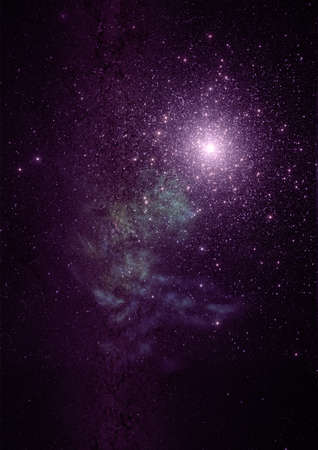 Star field in space a nebulae and a gas congestion.