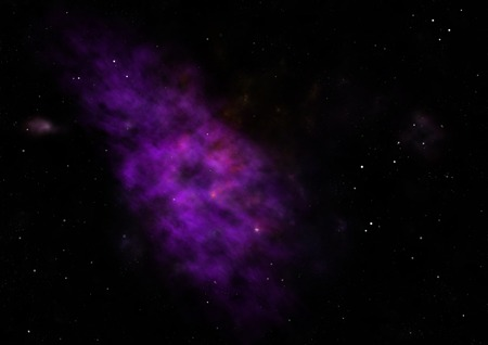 Being shone nebula. 3D rendering Stock Photo