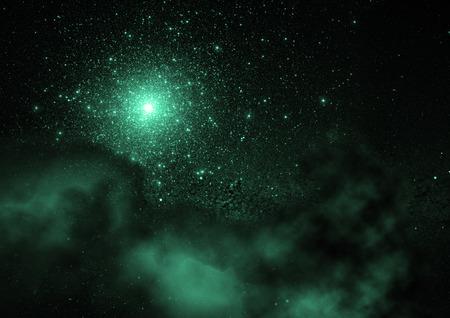 Star field in space and a nebulae Foto de archivo