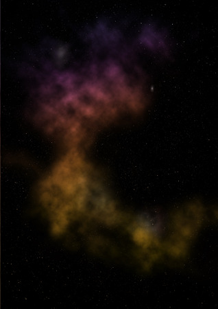 Being shone nebula Stok Fotoğraf