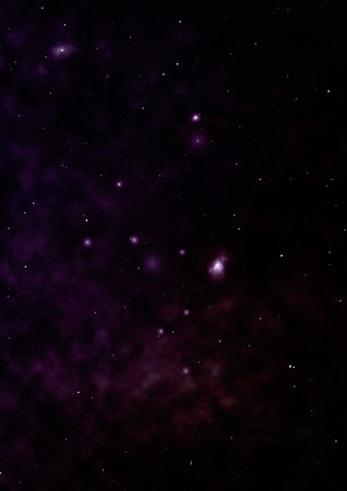 Star field in space and a nebulae Stock Photo