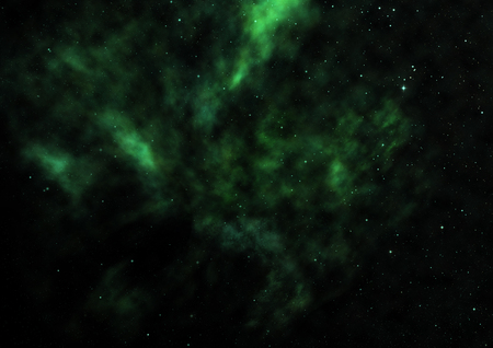 Star field in space a nebulae and a gas congestion.3D rendering