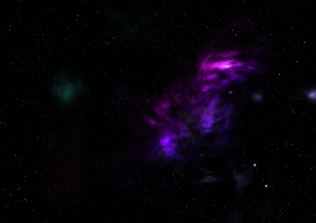Star field in space a nebulae and a gas congestion