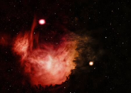 Star field in space a nebulae and a gas congestion. Stock fotó - 129201310
