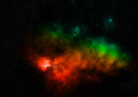 Star field in space a nebulae and a gas congestion. Stock fotó - 129201313