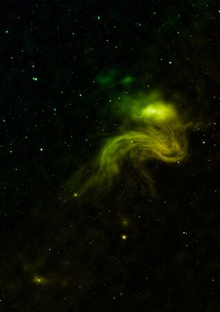 Being shone nebula and star field. 3D rendering Фото со стока - 130807699
