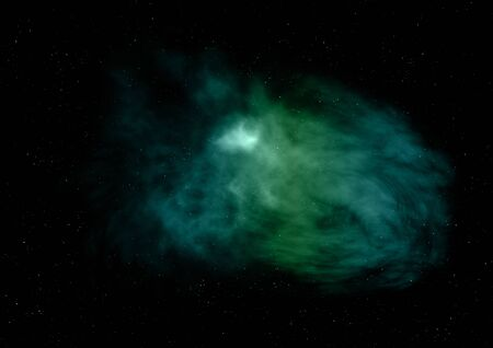 Far being shone nebula and star field against space. Elements of this image furnished by NASA. 3D rendering. Фото со стока