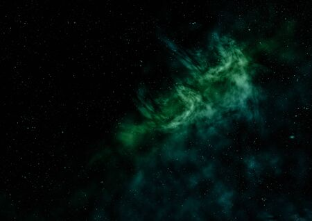 Small part of an infinite star field of space in the Universe. Elements of this image furnished by NASA . 3D rendering Фото со стока - 130807839