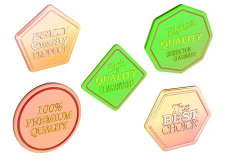 High Quality set of Sale product badges isolated on white. 3D rendering. Stock fotó