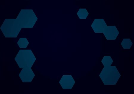 Abstract conceptual scientific technology background with hexagons Stock fotó