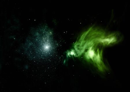 Star field in space and a nebulae. 3D rendering Stock fotó