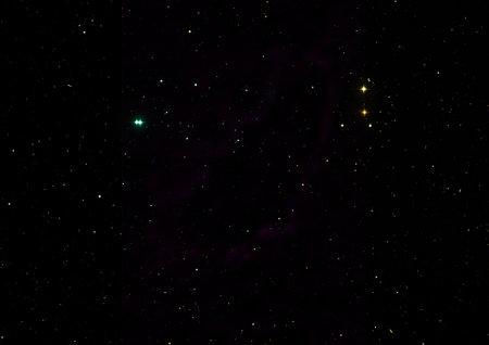 Star field in space and a nebulae. 3D rendering Standard-Bild - 161777658