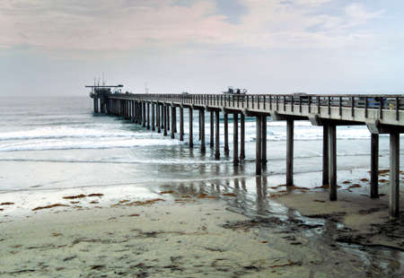 A snapshot of a pier in San Diego, California.