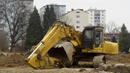 building site - an excavator