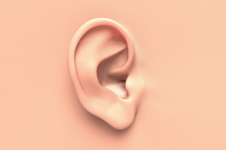 human ear: Human ear close up without any hair surrounding Stock Photo