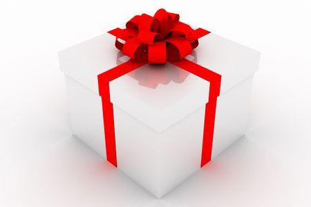 Present box isolated on white background Standard-Bild