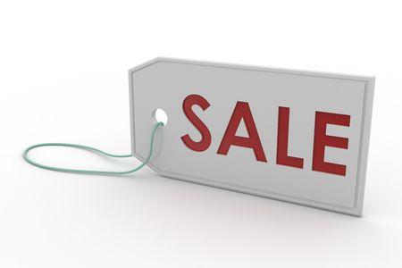 White Sale Tag 3d rendering Standard-Bild
