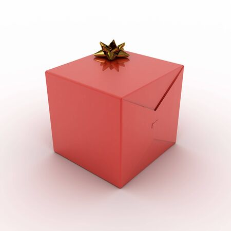 red present box (rendering)
