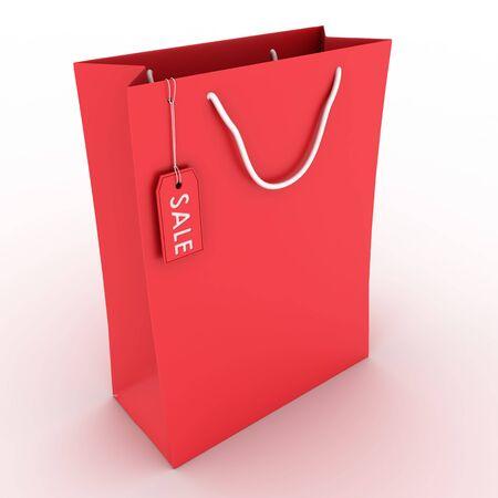 red sale shopping bag Standard-Bild
