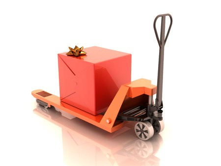 Gift box on the cart Stock Photo - 4104146