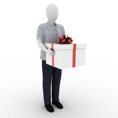 Human making a present