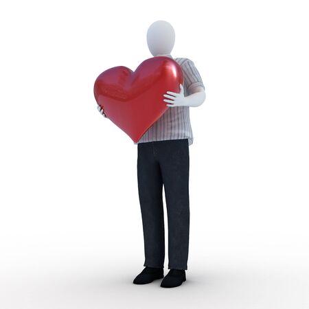 Human giving his heart Standard-Bild