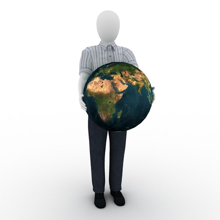 human holding the world Standard-Bild