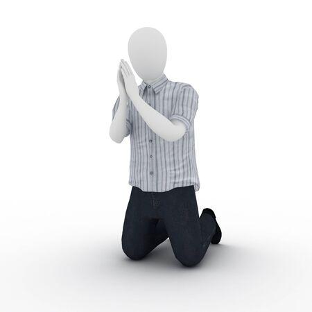 Human praying Standard-Bild