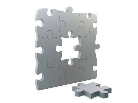 Puzzle wall with a lost part