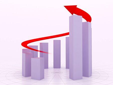 Increase diagram with an arrow Stock Photo - 5315925