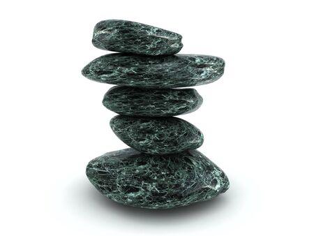 Knoten der Steine im Zen-Stil  Standard-Bild - 5533516