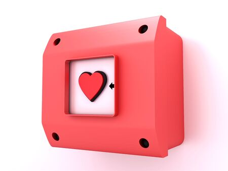Alarm button figure of heart Stock Photo - 5533503