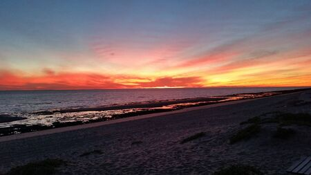 rocky point: Rocky Point Sunset Stock Photo